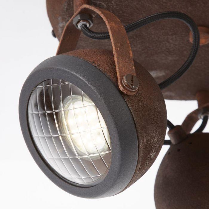 Landelijke plafondlamp Amber, Roest