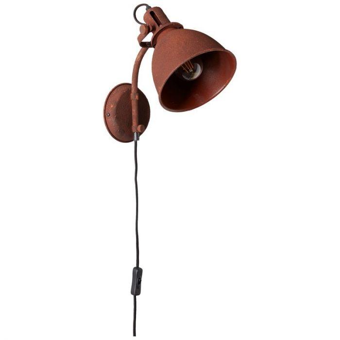Landelijke wandlamp Vera, Roest