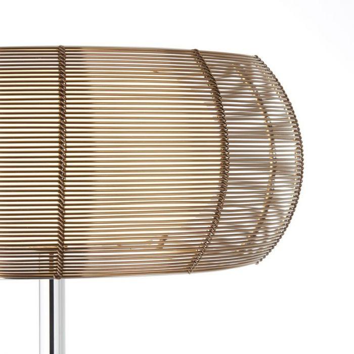 Moderne staande lamp Lize, Brons, Chroom