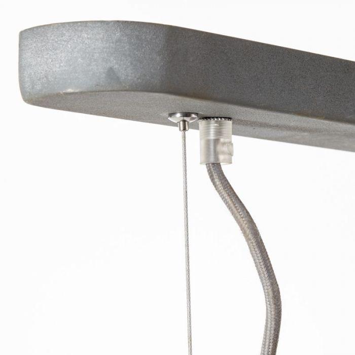 Landelijke hanglamp Jill, Beton Grijs