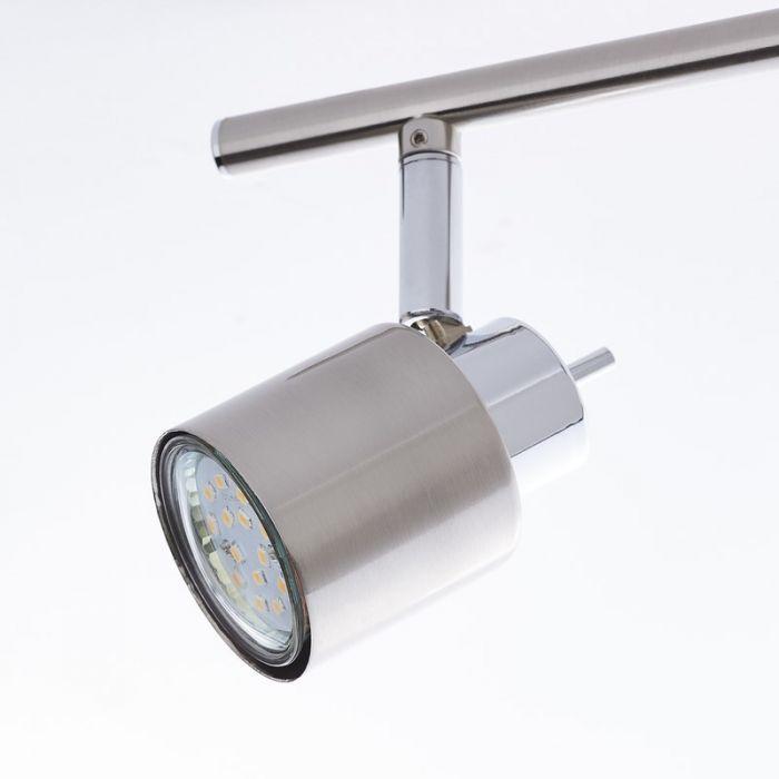 Moderne plafondlamp Fenne, Nikkel, Chroom
