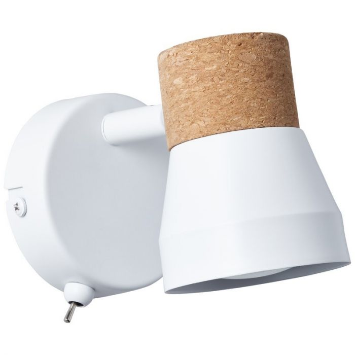 Moderne wandlamp Charlotte, Mat Wit