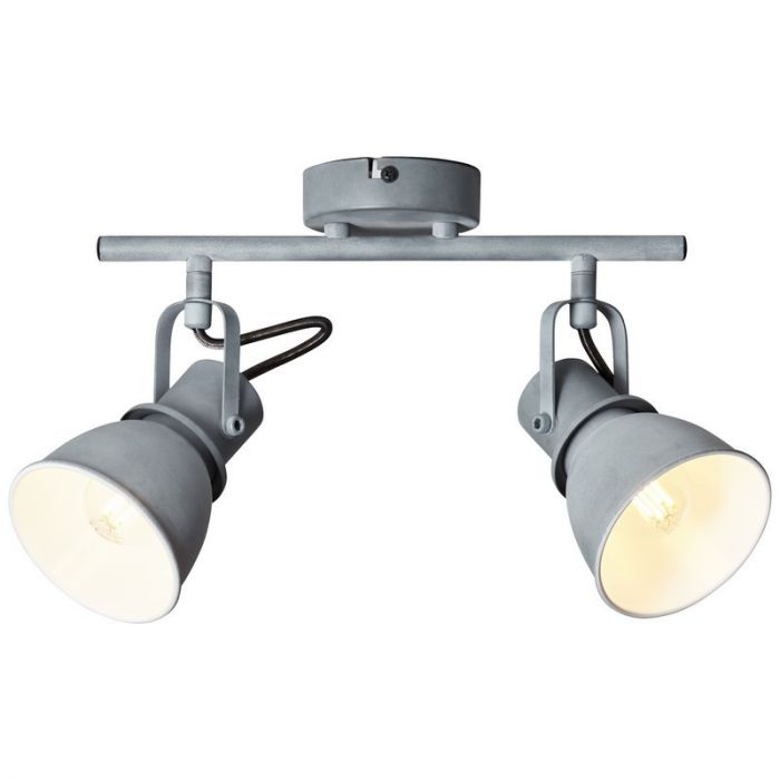 Klassieke plafondlamp Naomi, Beton Grijs
