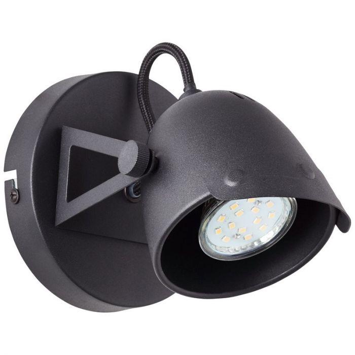 Retro wandlamp Linde, Zwart steen