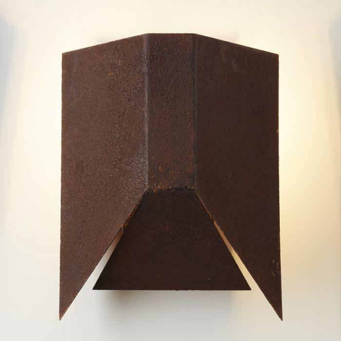 Moderne wandlamp Livia, Roest