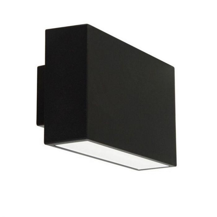 Zwarte, moderne buitenlamp Edona
