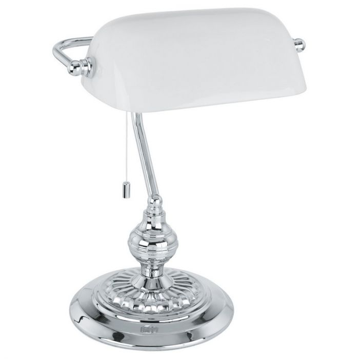 Witte tafellamp Lugco Bankierslamp
