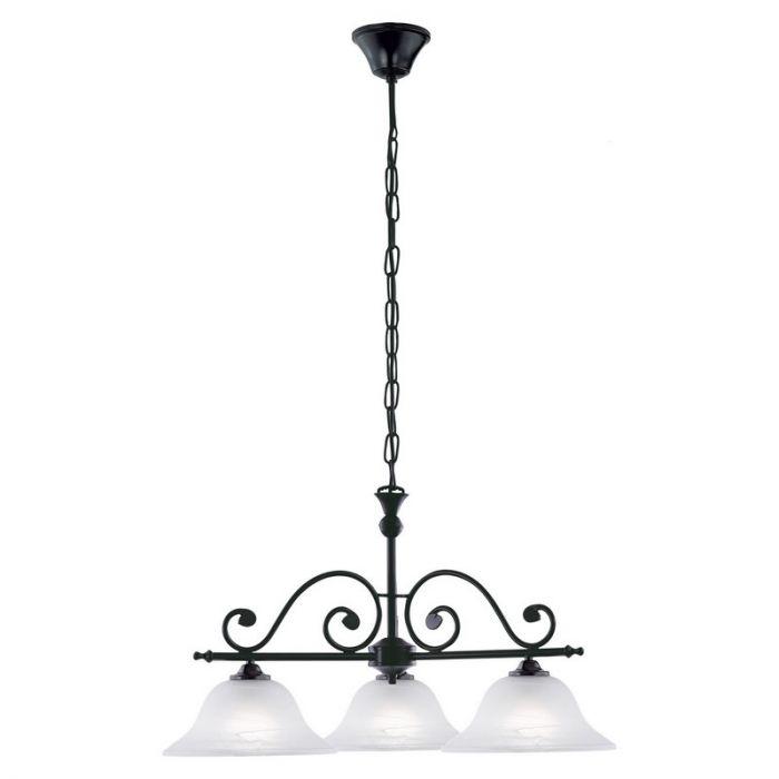 Landelijk klassieke hanglamp Tesse Zwart metaal