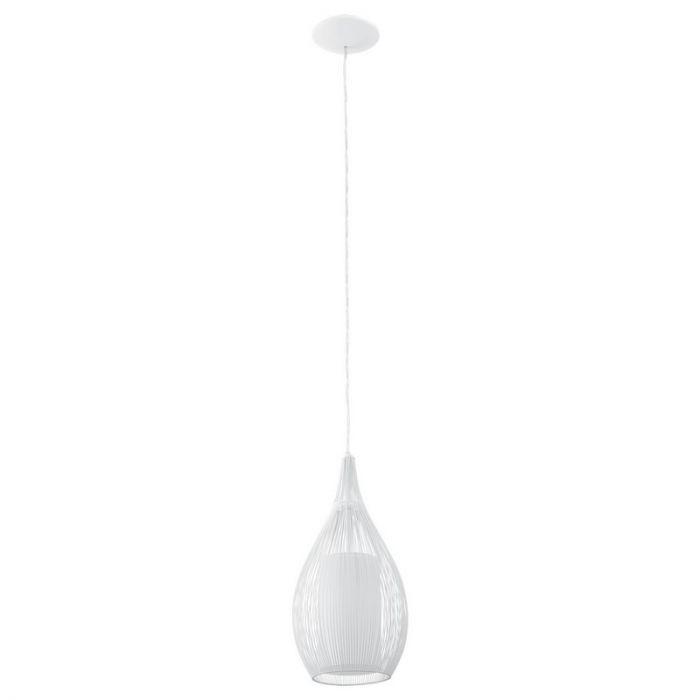 Hasam hanglamp sierlijk glas wit