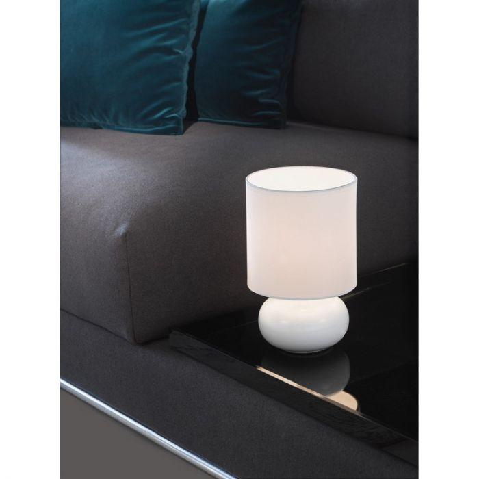Matthew tafellamp keramiek en textiel wit