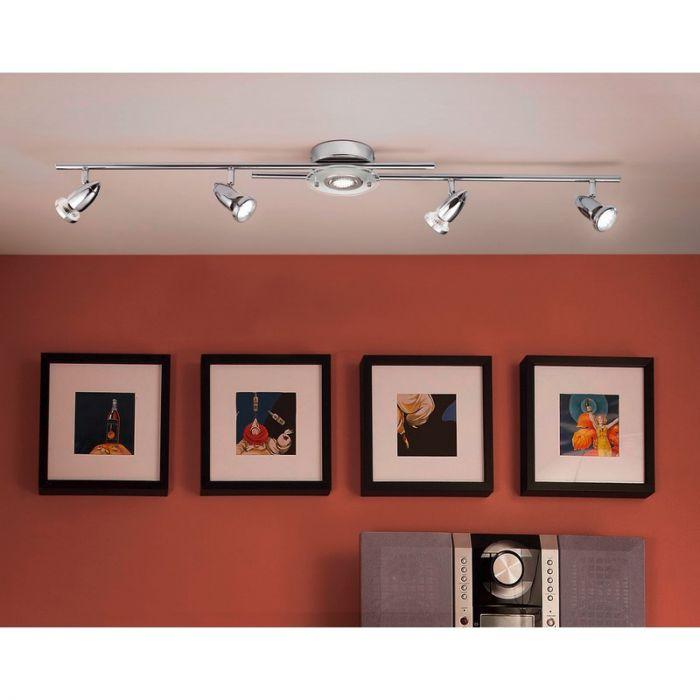 Joost design plafondspot rond glasplaatje