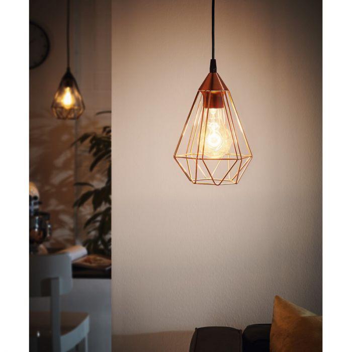 Koperen hanglamp Costel