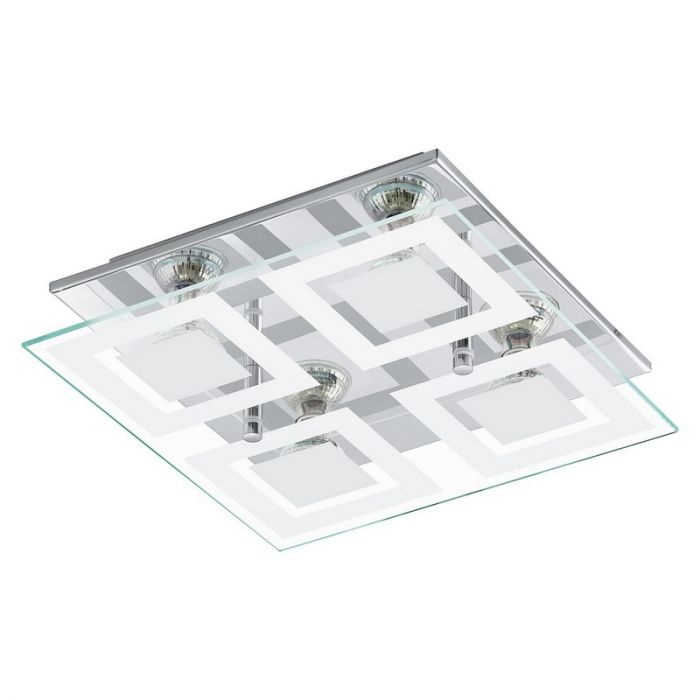 Moderne Glazen Chroom Witte wand/plafondlamp Desteny