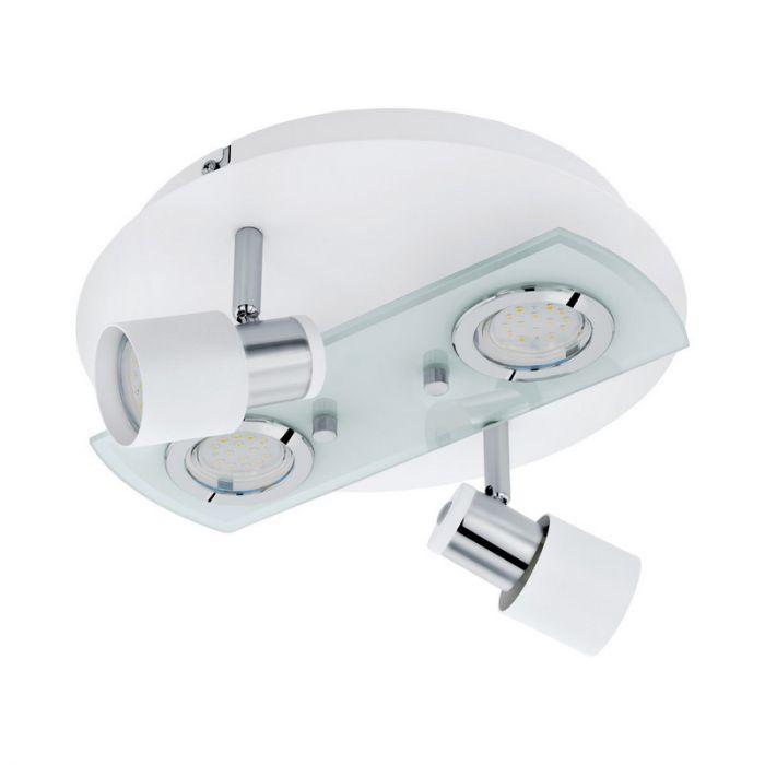 Aaltsje plafondlamp - Wit Chroom