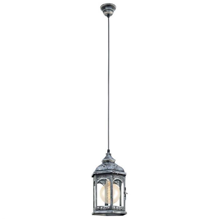 Abderrazak hanglamp - Antiek Zilver
