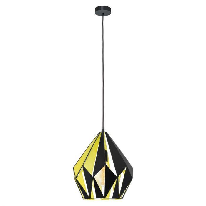 Abdifatah hanglamp - Zwart Geel