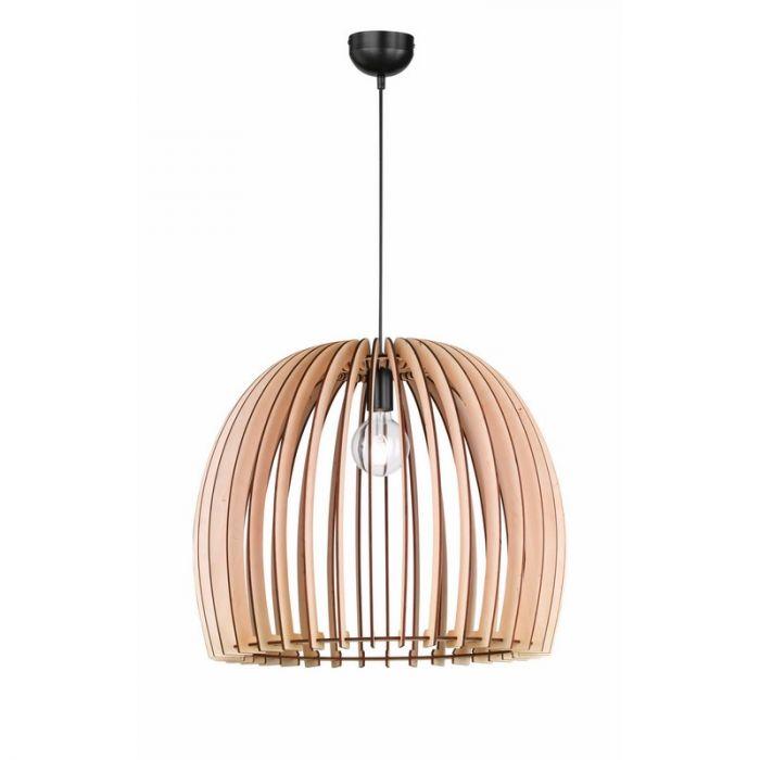 Moderne, Landelijke Hanglamp Valenthina - Houtkleur