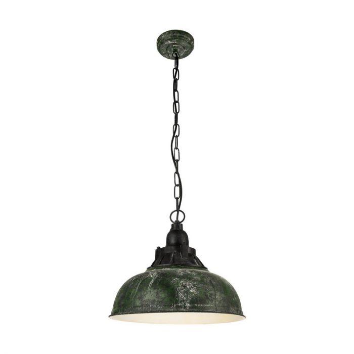 Adrienne hanglamp - Green-Antique Black
