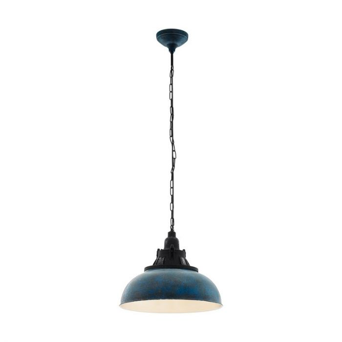 Agnes hanglamp - Blue-Antique Black