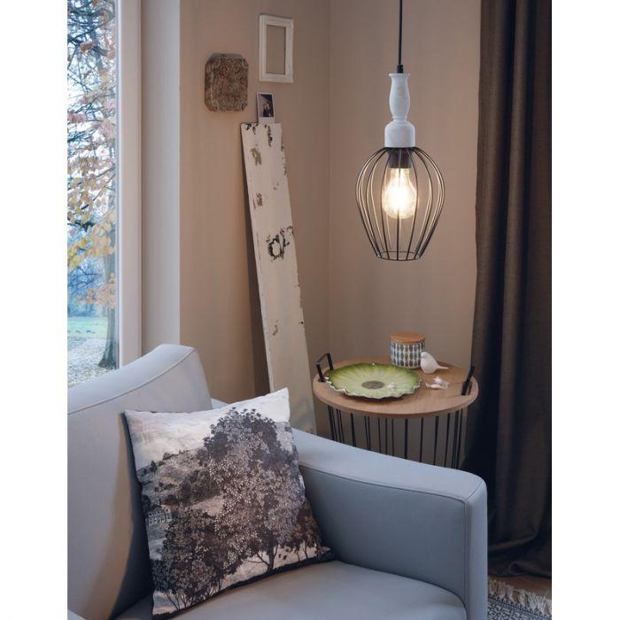 Aileen hanglamp - Zwart Bruin