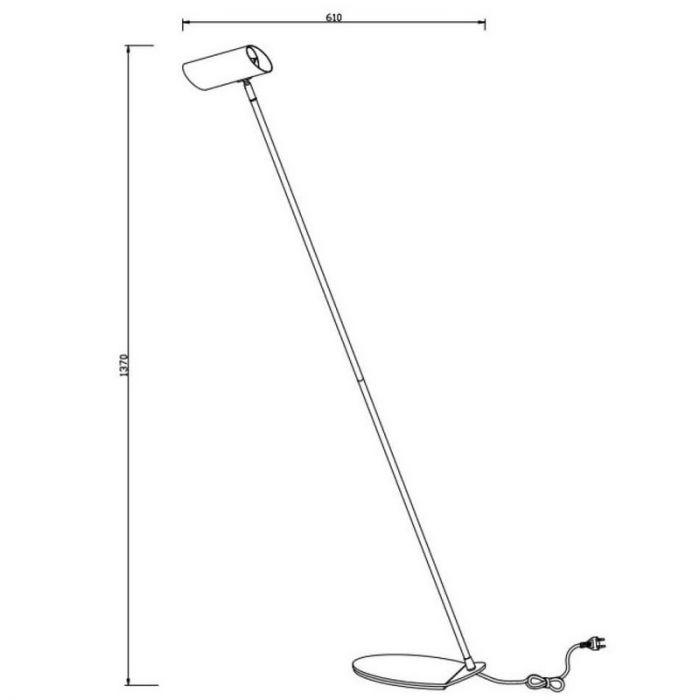 Moderne vloerlamp Hester, Antraciet