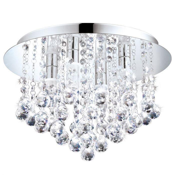 Almedina plafondlamp - Chroom
