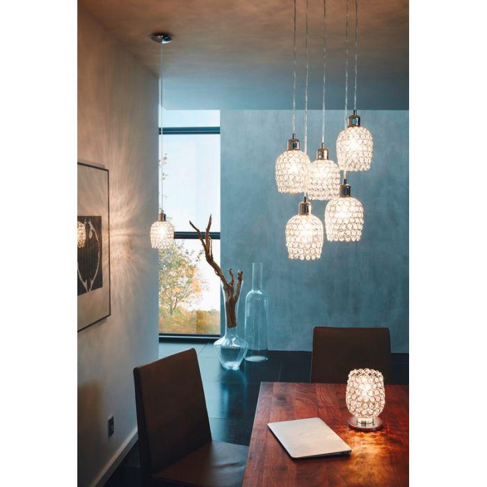Alvaro tafellamp - Chroom