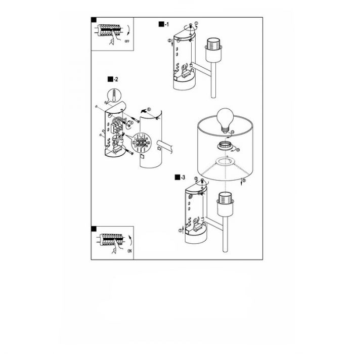 Amadou wandlamp - Nikkel-Mat