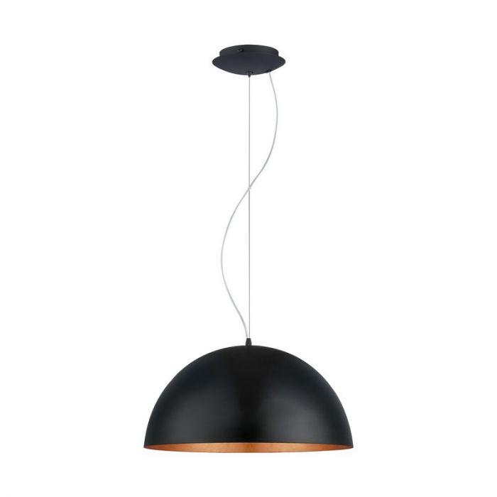 Amani hanglamp - Zwart Koper