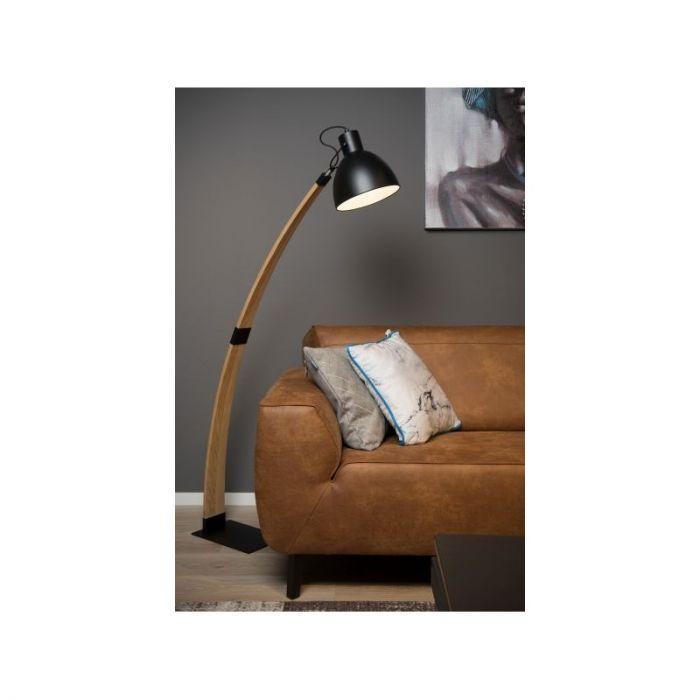 Design staande leeslamp Curf, Zwart