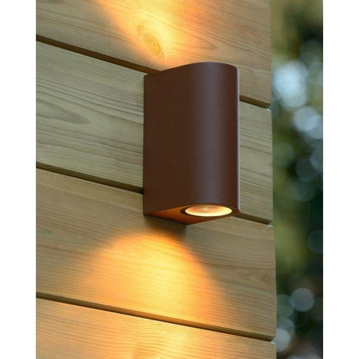 Roestbruine Boogy buitenlamp wand - Modern design