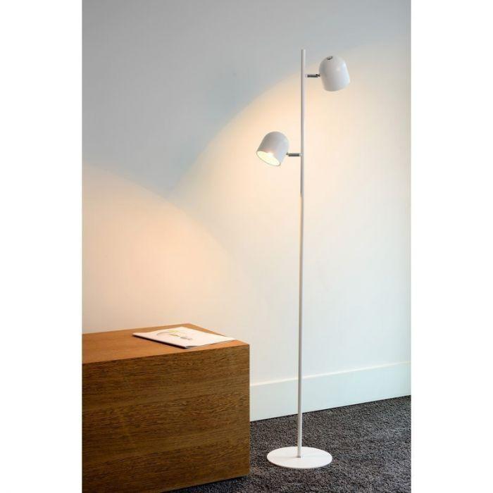 Witte Skanska vloerlamp, modern