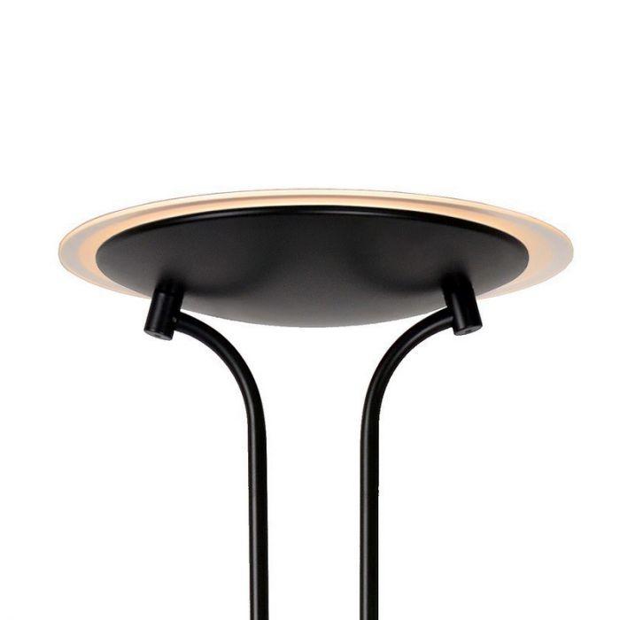 Moderne staande leeslamp Champion, Zwart