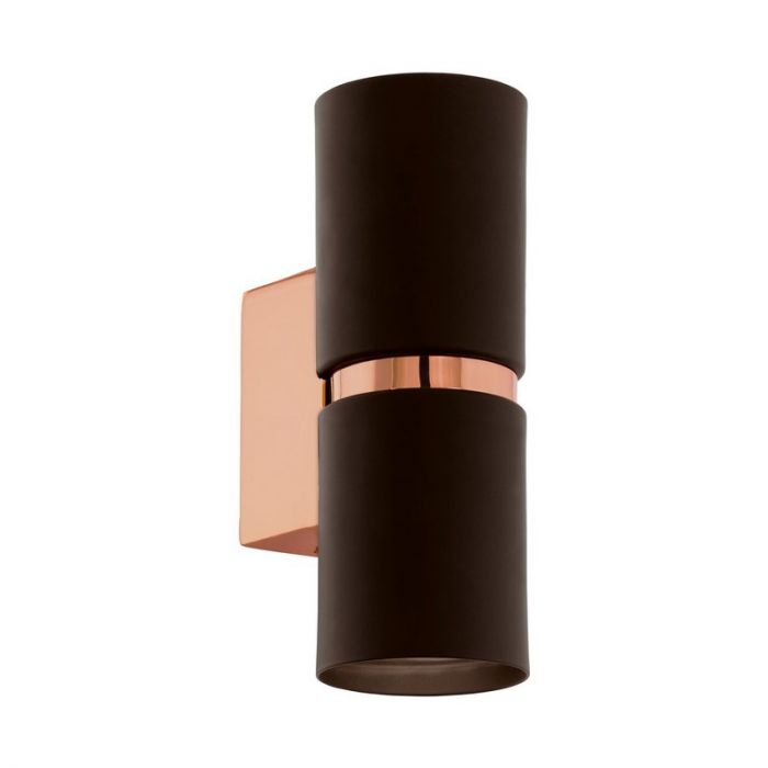 Annelous wandlamp - Bruin Koper