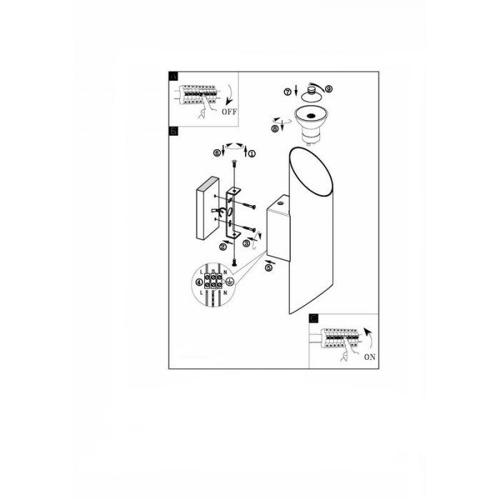 Annigje wandlamp - Nikkel-Mat Glanzend Wit