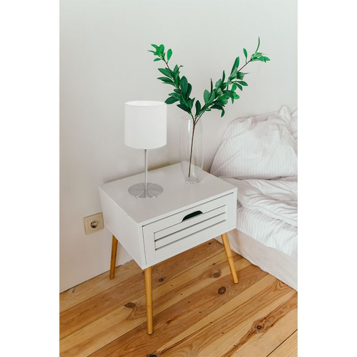 Aruna tafellamp - Nikkel-Mat