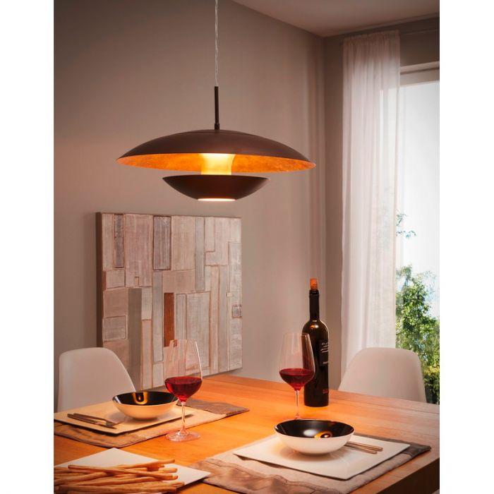 Ashish hanglamp - Bruin Goud