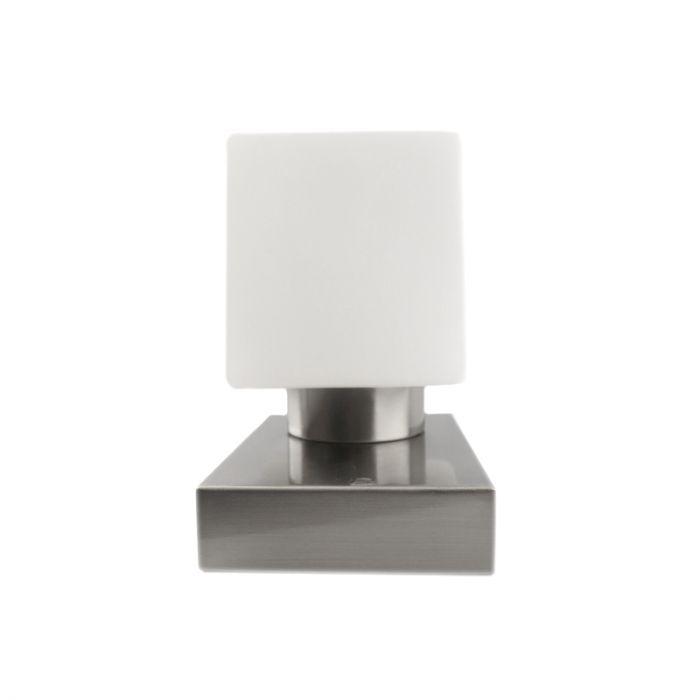Isa tafellamp, strak uiterlijk, nikkel en wit