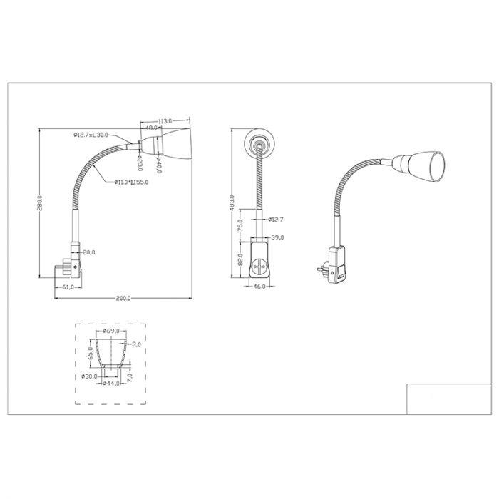 Industriele stekkerlamp Ava