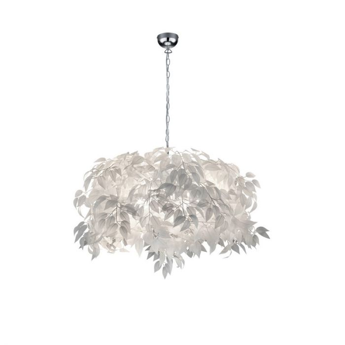 Brocante Hanglamp Urwa - Chroom, Wit