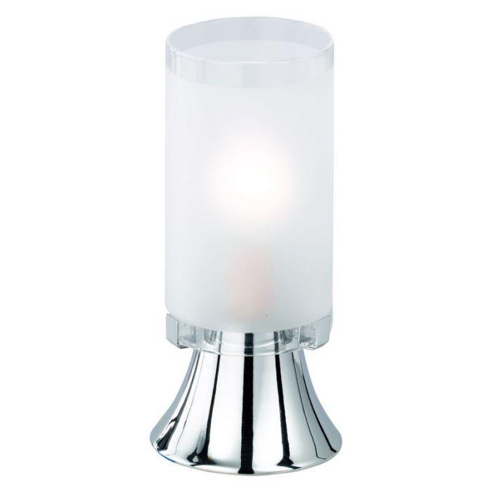 Leanne tafellamp, sfeervolle voet, wit