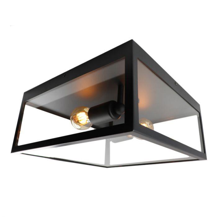 Moderne Landelijke Glazen Zwarte Transparante plafonniere Yagmur