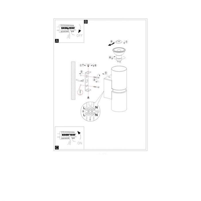 Bouwe wandlamp - Nikkel-Mat Chroom