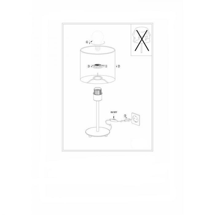 Bradly tafellamp - Nikkel-Mat