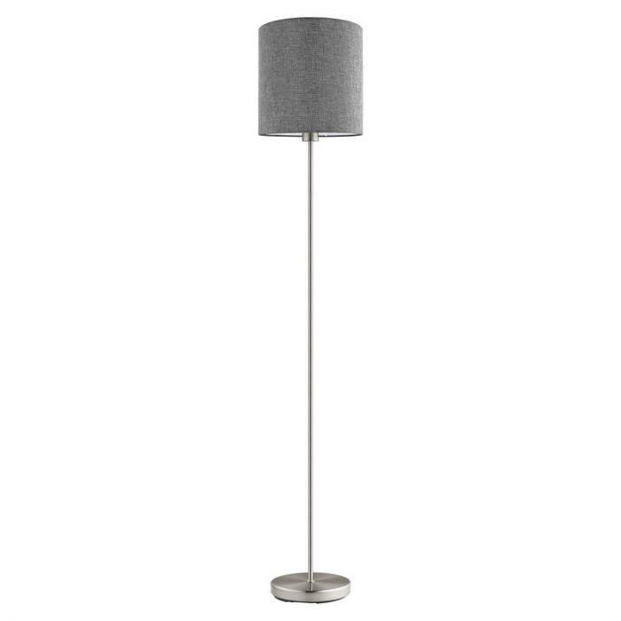 Brady vloerlamp - Nikkel-Mat