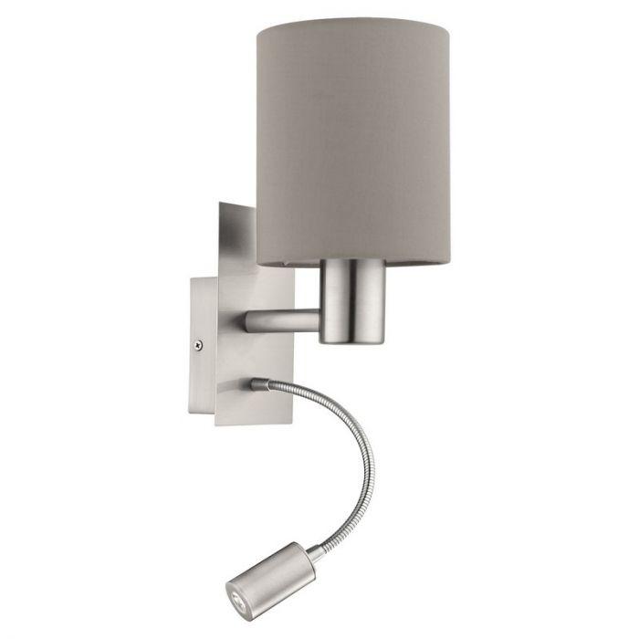 Bruna wandlamp - Nikkel-Mat
