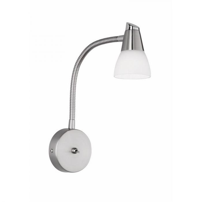 Nikkel, metalen wandlamp Lemi