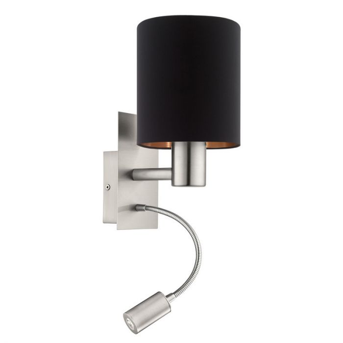 Bryant wandlamp - Nikkel-Mat