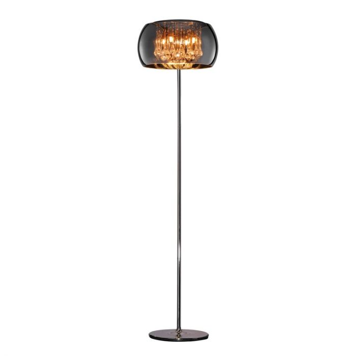 Moderne vloerlamp Capucine, Chroom