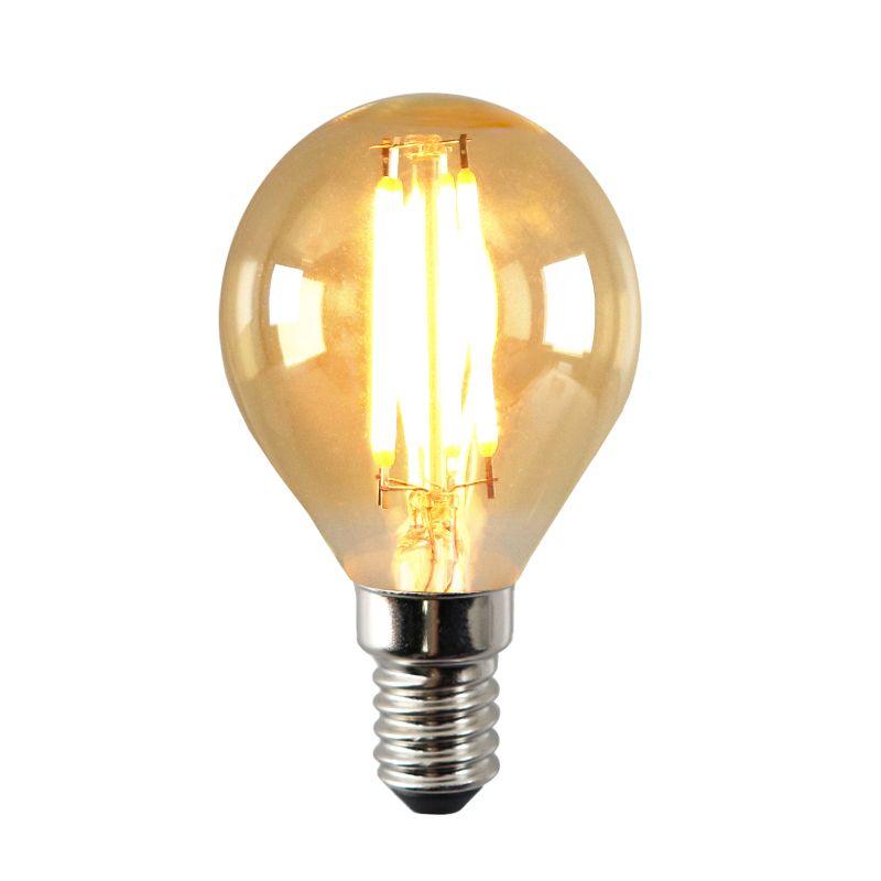 E14 amber en goud